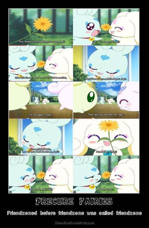 precure series was Friendzoning before it was called so...