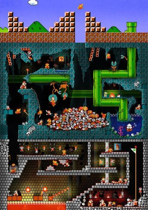 Where Mario Falls From