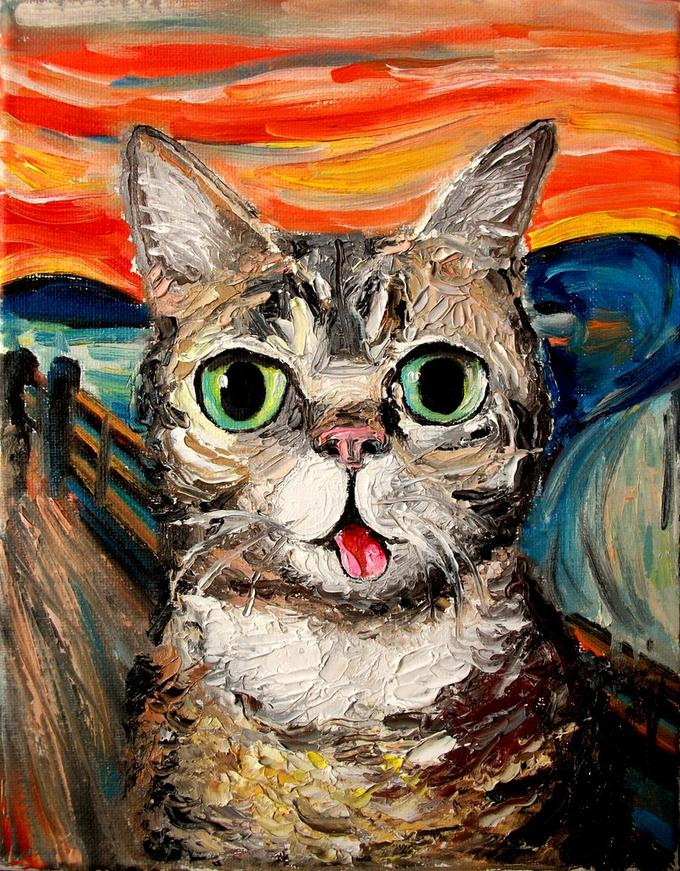 Lil Bub Meets The Scream