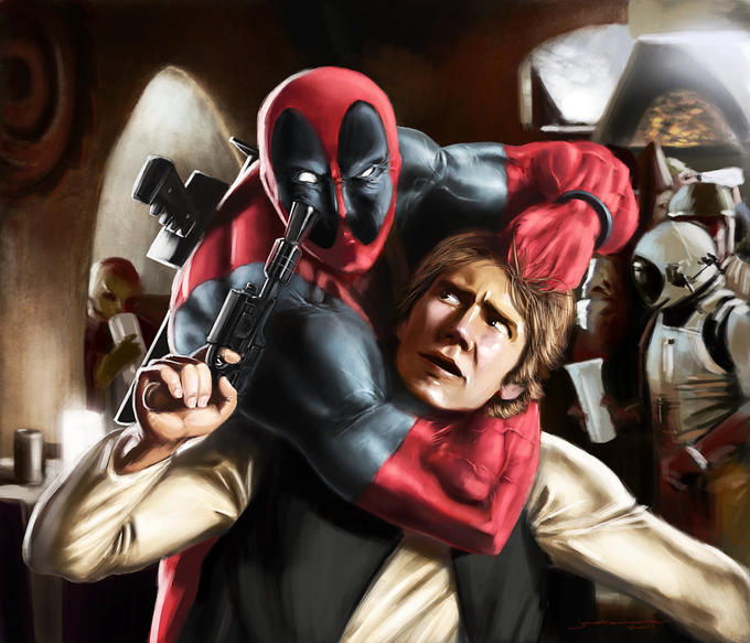 Han Solo Gets Deadpooled by Jonathan-Moore