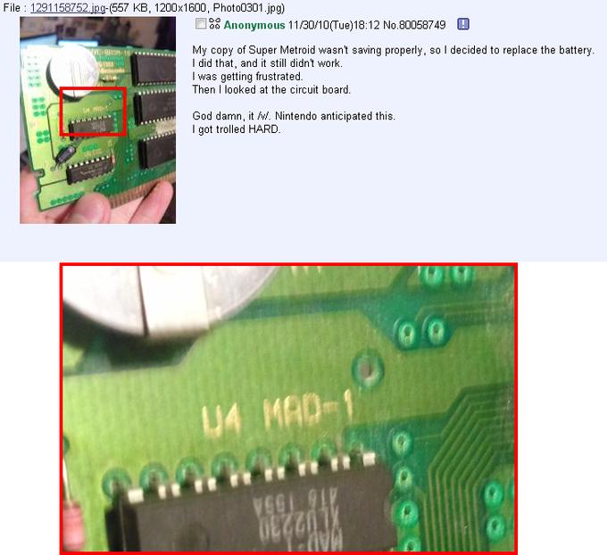 Super Metroid Circuit Board