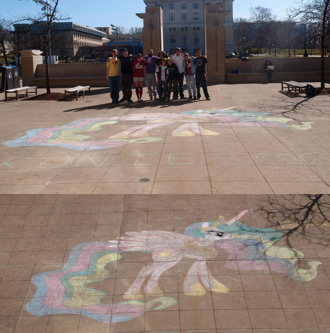 Celestia Chalk Drawing at Carnegie Mellon