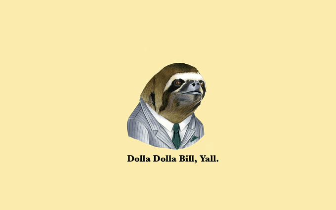 sloth wallpaper 1