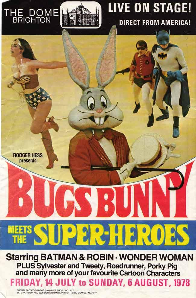 Bugs Bunny meets the Super Heroes