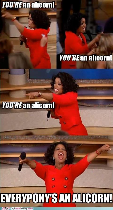 YOU'RE an alicorn!