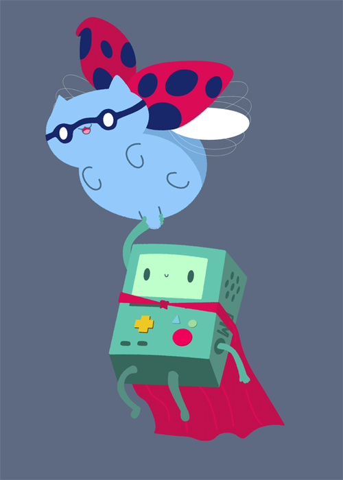 Catbug and BMO!