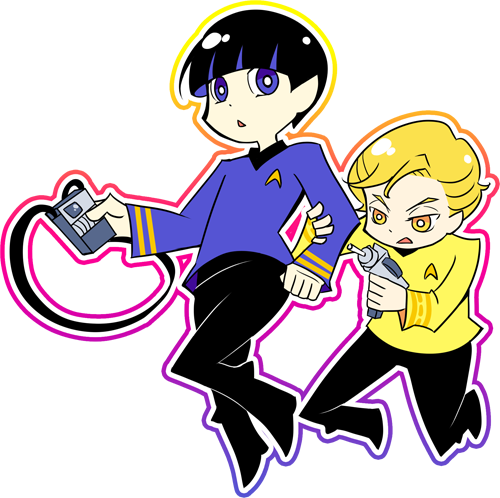 Kirk and Spock PSG