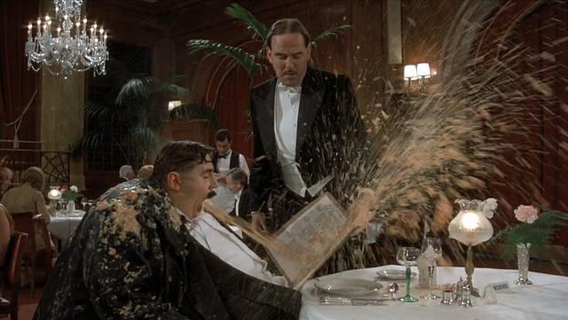 Mr. Creosote Puking on Menu