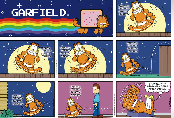 Garfield Comic Strip with Nyan Cat Logobox