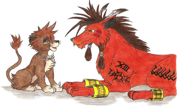 Red XIII Meets Pride Lands Sora