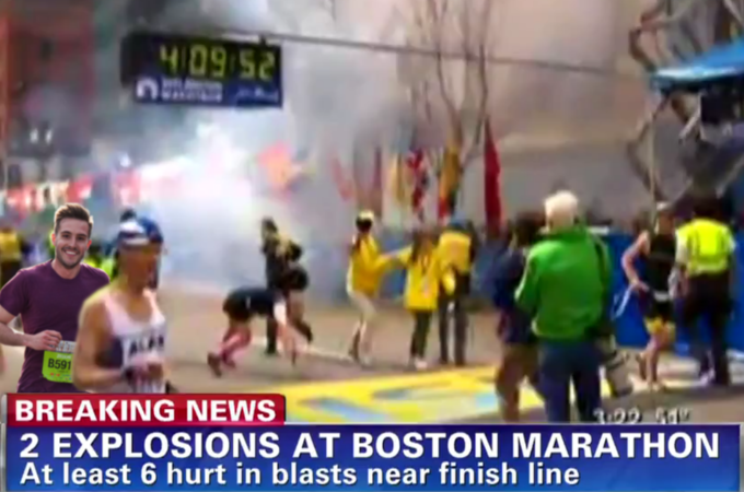 Ridiculously Photogenic Guy at the Boston Marathon