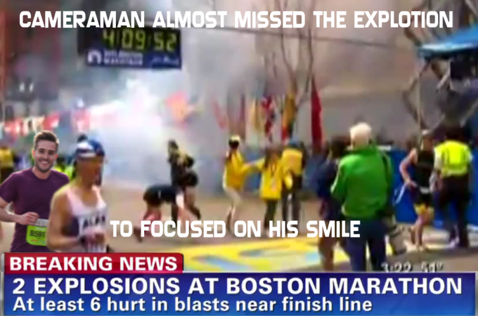 Cameraman to focused on Ridiculously Photogenic Guy