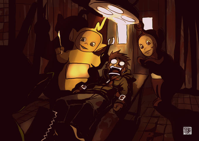 The Teletubbies REAL home in Silent Hill.