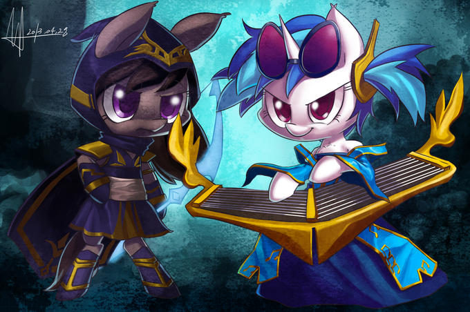Sona vinyl Scratch and Ashe octavia
