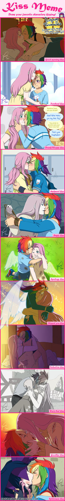 Fluttershy and rainbowdash kissing
