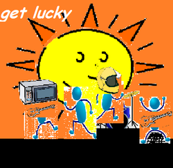 Get Lucky clipart cover
