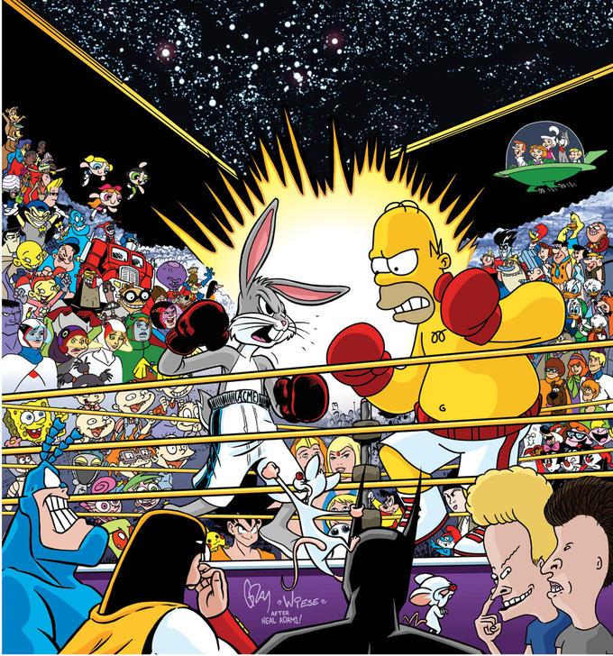 Bugs Bunny Versus Homer Simpson
