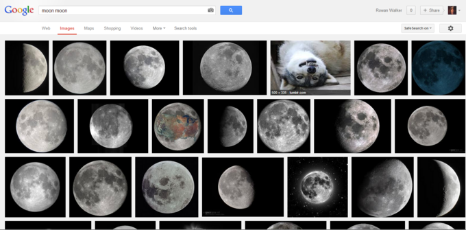 Moon Moon on Google