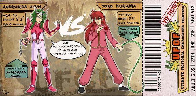 Andromeda Shun vs. Yoko Kurama