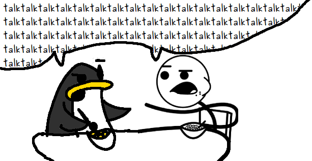 Friends Talk (Cereal Guy and Cereal Penguin)