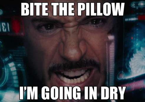 Iron Man goes in dry