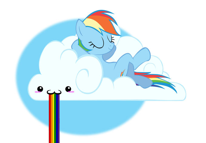 Rainbowdash puking rainbow