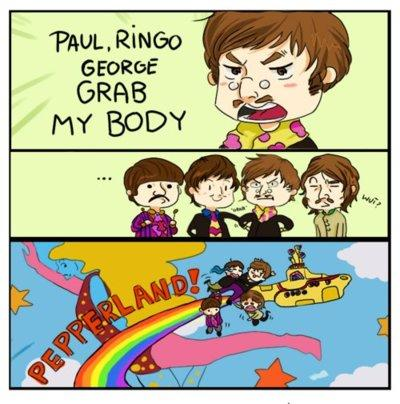 Beatles go to Pepperland