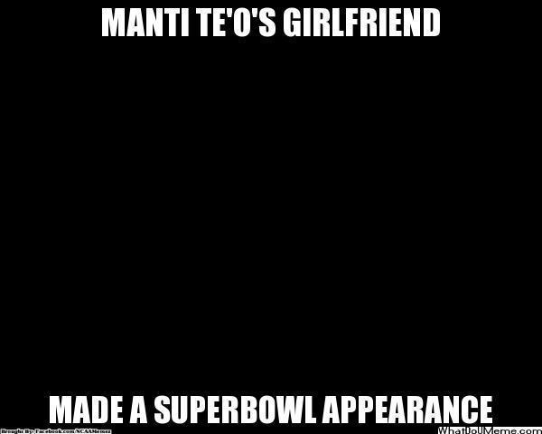 Manti Te'O's girlfriend at the Super Bowl