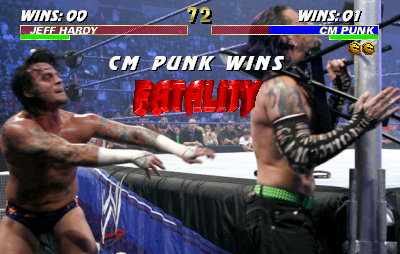 Jeff Hardy VS CM Punk