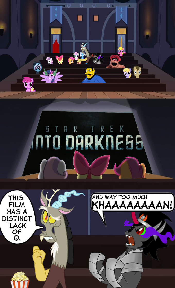 Star Trek Into Darkness playing in Ponyville