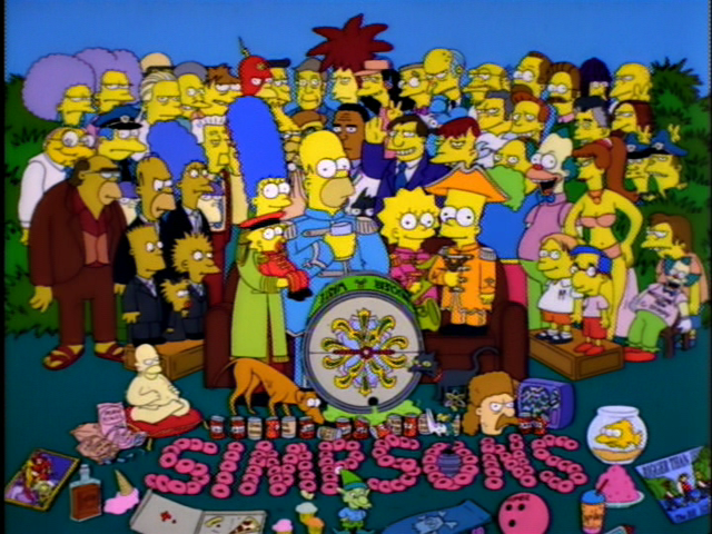 Sgt. Pepper's Lonely Hearts Club Band in The Simpsons