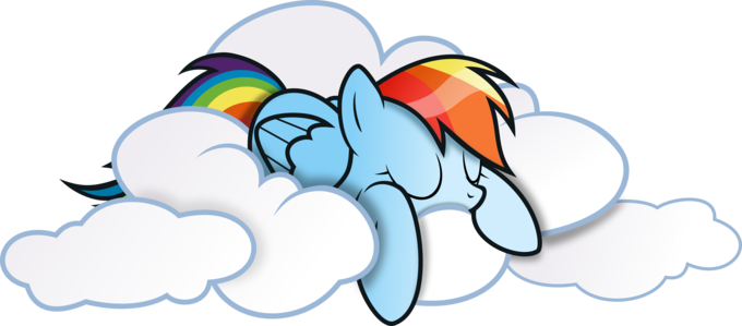 Rainbow dash on cloud