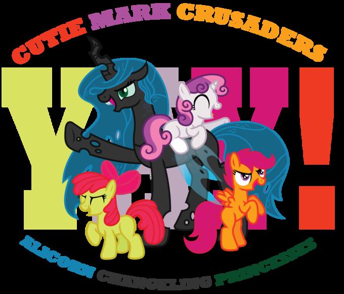 Cutie Mark Crusaders Alicorn Changeling Princesses