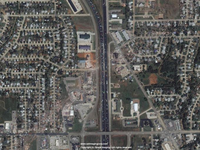 Satellite Image of Damage