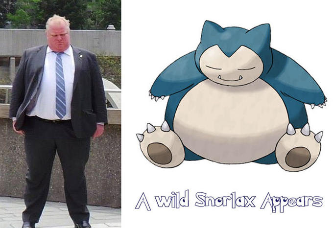 Rob Ford: A Wild Snorlax Appears