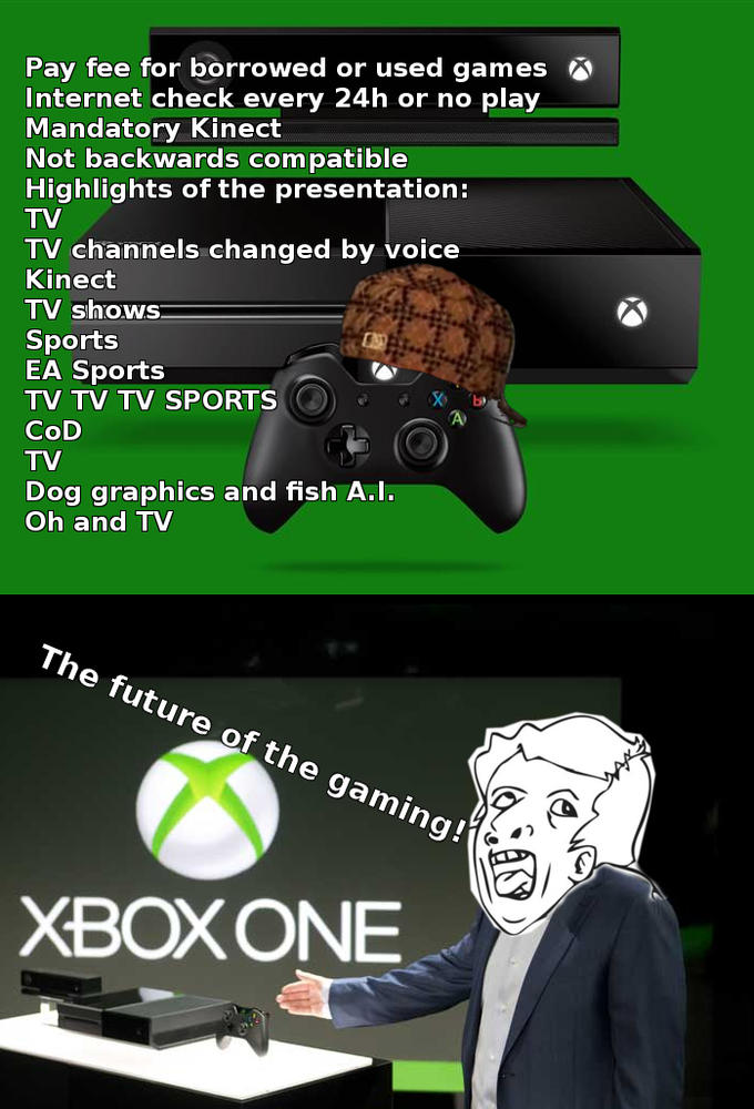 """""""Xbox One"""" - The gaming of the future, ladies and gentlemen..."""