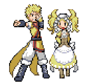 Myrmidon Owain and Cleric Lissa would like to battle!