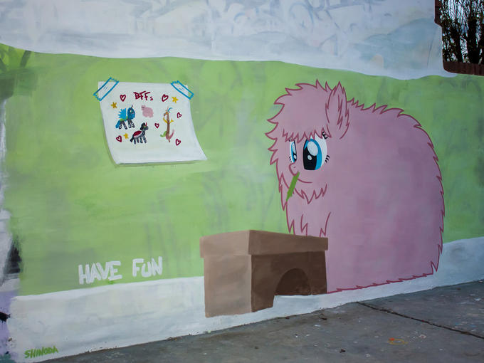 Fluffle Puff Graffiti