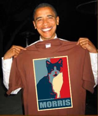 Obama with Morris shirt