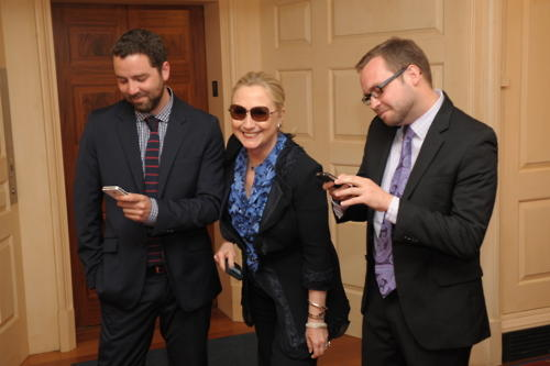 "Hillary Clinton with ""Texts From Hillary"" Bloggers"