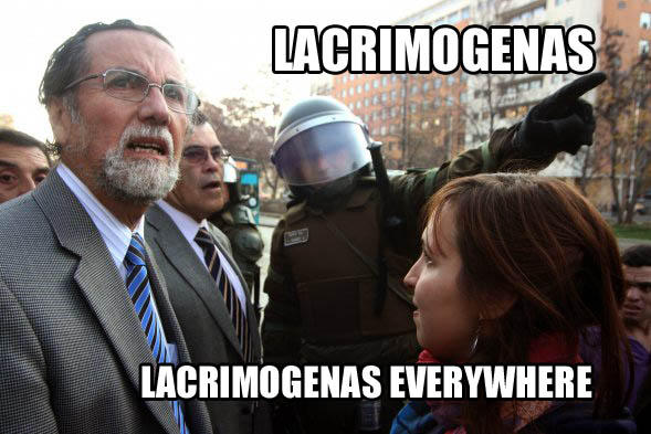 Lacrimogenas everywhere