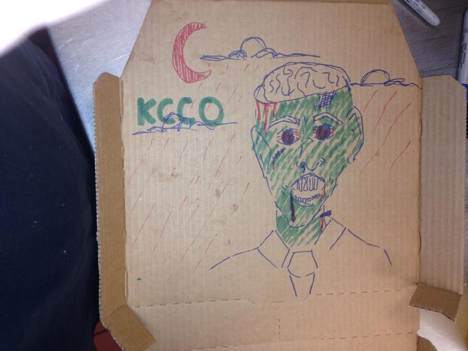 Draw zombie on box Win!