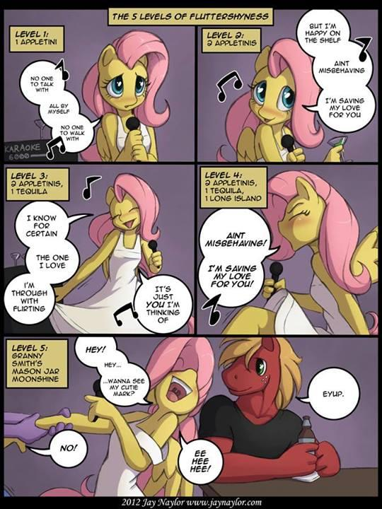 Flutters is a [very classy lady] when she gets drunk