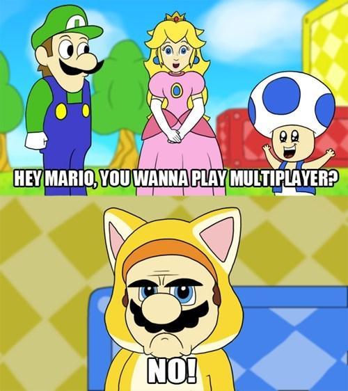 Grumpy Mario