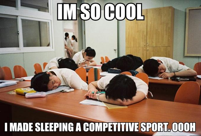 Im So Cool I Made Sleeping a Competitive Sport oooh