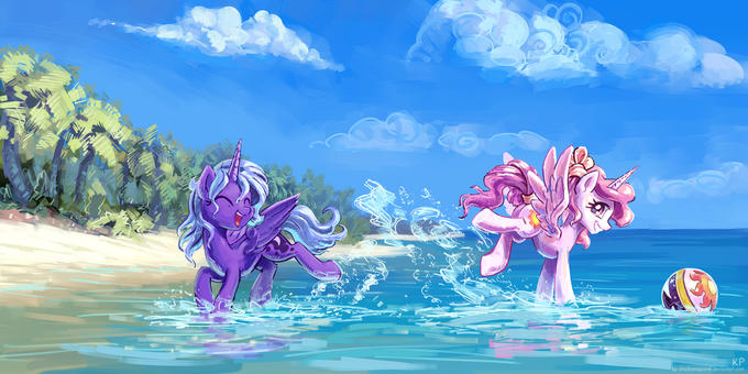 Woona and Cewestia At The Beach