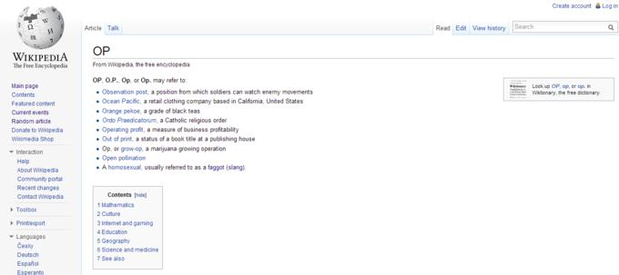 Lil' Wikipedia trolling.