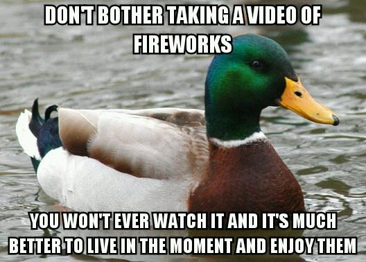 On Watching Fireworks