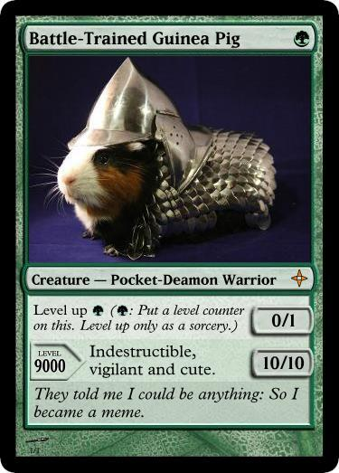 Armored Guinea Pig goes Magic the Gathering