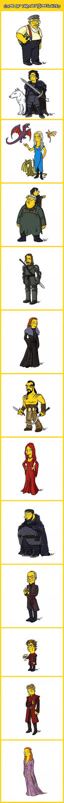 Simpsonized Game of Thrones Characters
